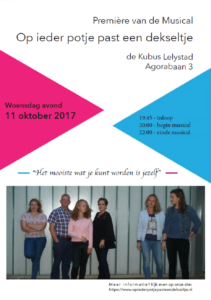 18-jarige Lelystedeling schrijft musical voor Coming Out Day